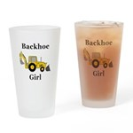 Backhoe Girl Drinking Glass