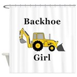 Backhoe Girl Shower Curtain