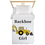 Backhoe Girl Twin Duvet
