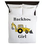 Backhoe Girl Queen Duvet