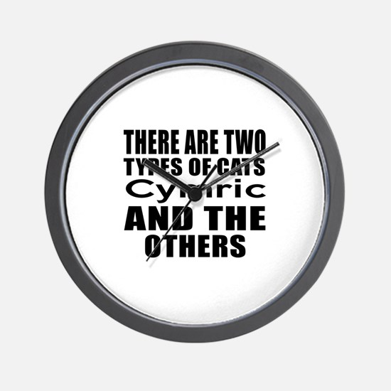 There Are Two Types Of Cymric Cats Desi Wall Clock