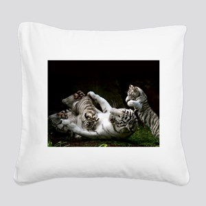 Tag Team Square Canvas Pillow