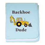 Backhoe Dude baby blanket
