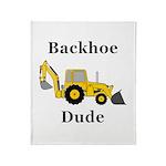 Backhoe Dude Throw Blanket
