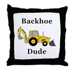 Backhoe Dude Throw Pillow