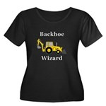 Backhoe Women's Plus Size Scoop Neck Dark T-Shirt