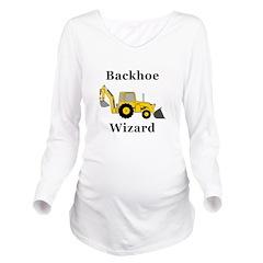 Backhoe Wizard Long Sleeve Maternity T-Shirt