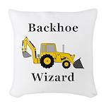 Backhoe Wizard Woven Throw Pillow
