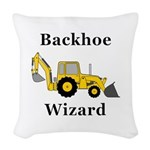 Backhoe Wizard Woven Throw Pillow