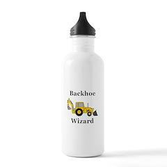 Backhoe Wizard Water Bottle