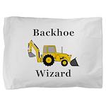 Backhoe Wizard Pillow Sham