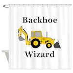 Backhoe Wizard Shower Curtain