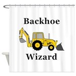 Backhoe Wizard Shower Curtain