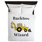 Backhoe Wizard Queen Duvet