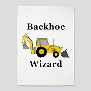 Backhoe Wizard 5'x7'Area Rug