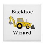 Backhoe Wizard Tile Coaster
