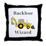 Backhoe Wizard Throw Pillow