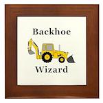 Backhoe Wizard Framed Tile