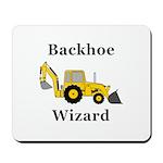 Backhoe Wizard Mousepad