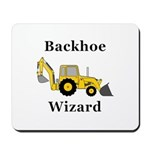 Backhoe Wizard Mousepad