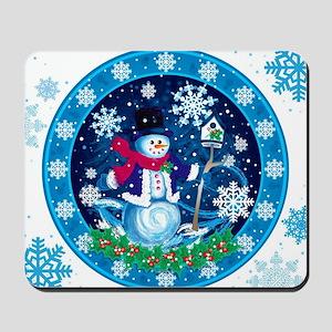 Wonderland Snowman Mousepad