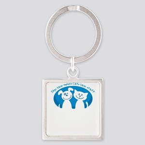 dogs have owners cats have staff Keychains