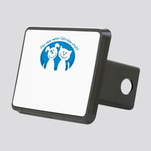 dogs have owners cats have Rectangular Hitch Cover