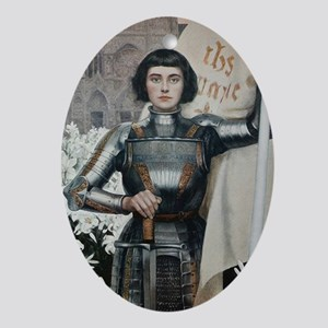 Joan of Arc Oval Ornament