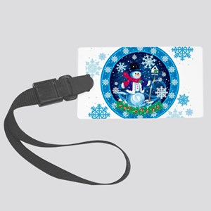 Wonderland Snowman Large Luggage Tag
