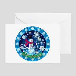 Wonderland Snowman Greeting Cards