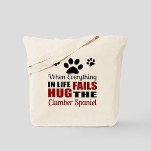 Hug The Clumber Spaniel Tote Bag