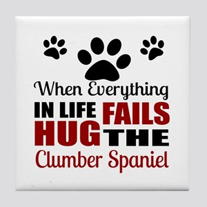 Hug The Clumber Spaniel Tile Coaster