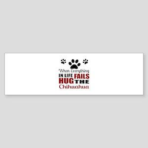 Hug The Chihuahua Sticker (Bumper)