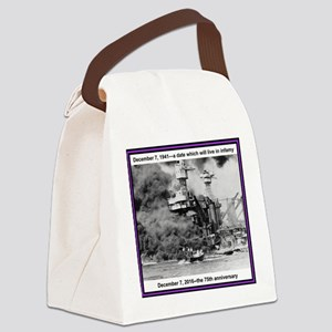Pearl Harbor 75th Canvas Lunch Bag