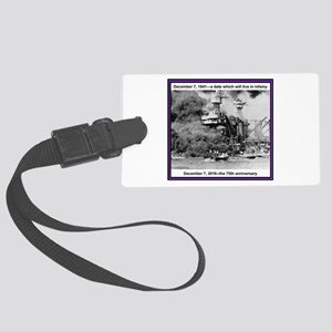 Pearl Harbor 75th Large Luggage Tag