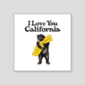 I Love You California Sticker