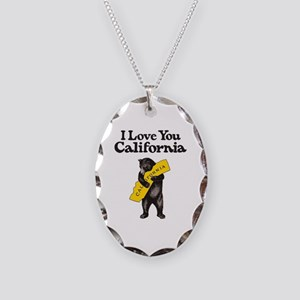 I Love You California Necklace Oval Charm