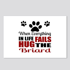 Hug The Briard Postcards (Package of 8)
