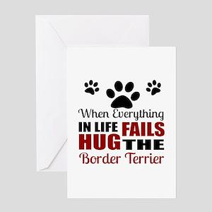 Hug The Border Terrier Greeting Card