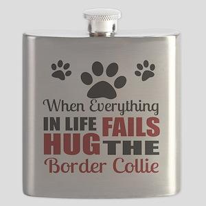 Hug The Border Collie Flask