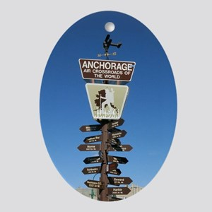 Anchorage Oval Ornament