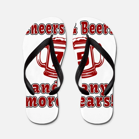 Cheers And Beers 92 And Many More Years Flip Flops