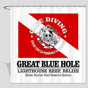 Great Blue Hole Shower Curtain