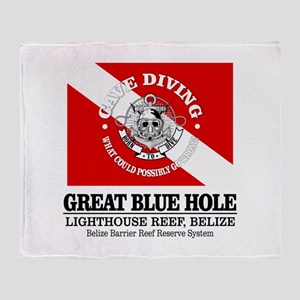 Great Blue Hole Throw Blanket