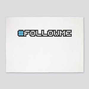 #followme (Pixel Art) 5'x7'Area Rug