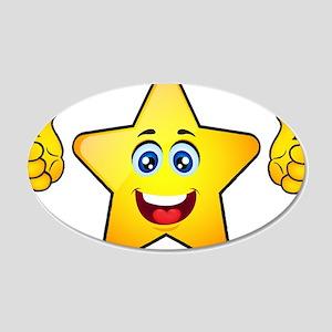 Thumbs up star Wall Sticker