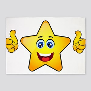 Thumbs up star 5'x7'Area Rug