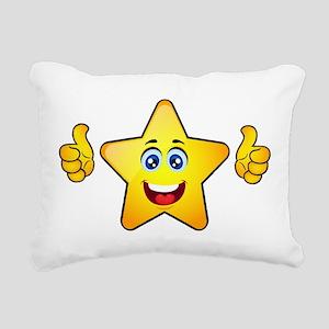 Thumbs up star Rectangular Canvas Pillow