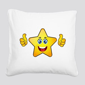 Thumbs up star Square Canvas Pillow