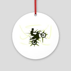 Biker Round Ornament